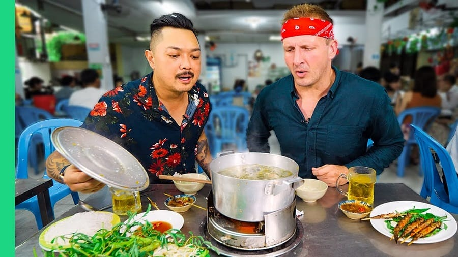 "Thumbnail from the video ""10 Street Foods UNDER $1 in Saigon, Vietnam!!! Street Food Dollar Menu 2!"""